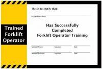 Forklift Certification Card Template 10