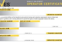 Forklift Certification Card Template 11