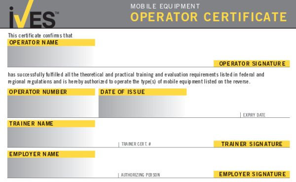 Forklift Certification Card Template 11