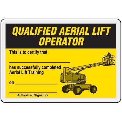 Forklift Certification Card Template 12