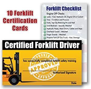 Forklift Certification Card Template 3