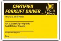 Forklift Certification Card Template 4