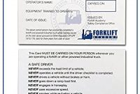 Forklift Certification Card Template 5