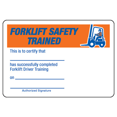 Forklift Certification Card Template 6