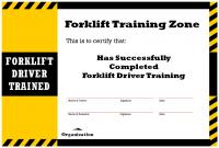 Forklift Certification Card Template 9