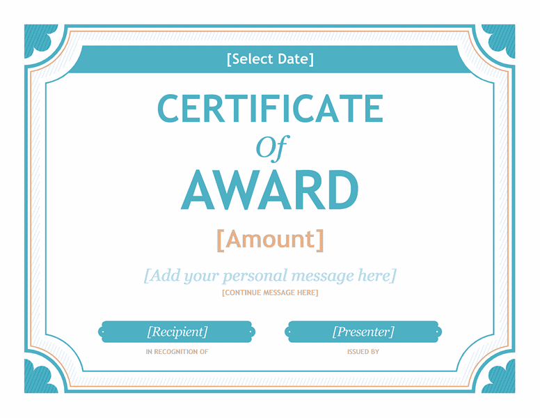 Free Certificate Templates For Word 2007 2