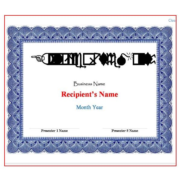 Free Certificate Templates For Word 2007 7