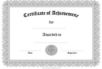 Free Printable Certificate Of Achievement Template 10