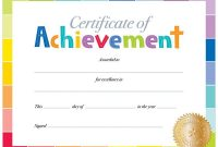 Free Printable Certificate Of Achievement Template 11