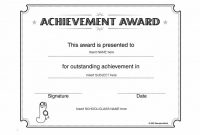 Free Printable Certificate Of Achievement Template 12