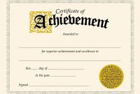 Free Printable Certificate Of Achievement Template 2