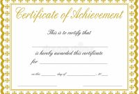 Free Printable Certificate Of Achievement Template 5