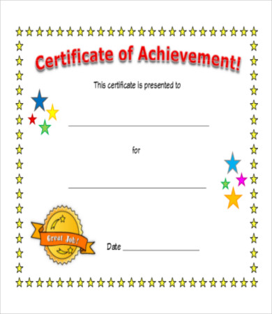 Free Printable Certificate Of Achievement Template 8