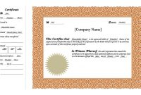 Free Stock Certificate Template Download 6