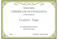 Free Student Certificate Templates 2