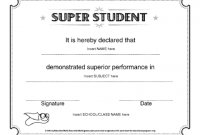 Free Student Certificate Templates 9