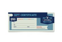 Gift Certificate Template Indesign 11