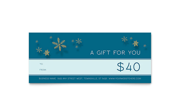 Gift Certificate Template Indesign 5