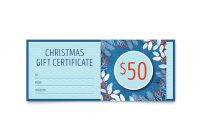 Gift Certificate Template Indesign 8
