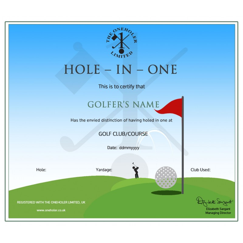 Golf Certificate Template Free 11