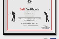 Golf Certificate Template Free 4