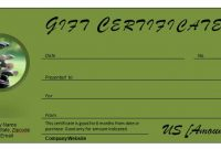 Golf Certificate Template Free 5