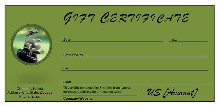 Golf Certificate Template Free 5