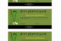 Golf Certificate Template Free 6