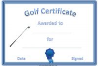 Golf Certificate Template Free 7