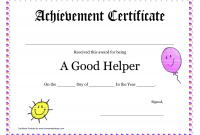 Good Job Certificate Template 10