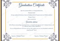 Graduation Certificate Template Word 4