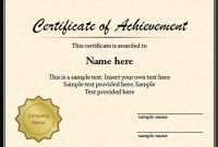 Graduation Certificate Template Word 6