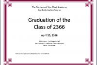 Graduation Certificate Template Word 7