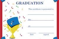 Graduation Certificate Template Word 9