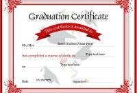 Graduation Certificate Template Word n2