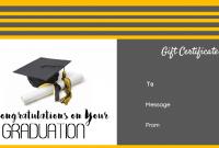 Graduation Gift Certificate Template Free 2