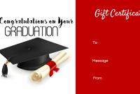Graduation Gift Certificate Template Free 3