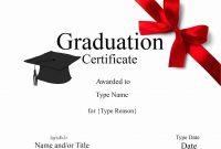 Graduation Gift Certificate Template Free 6