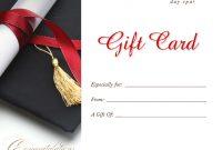 Graduation Gift Certificate Template Free 7