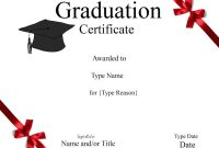 Graduation Gift Certificate Template Free 8
