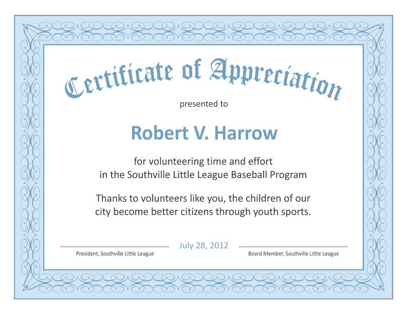 Gratitude Certificate Template 3