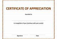 Gratitude Certificate Template 8