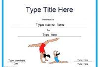 Gymnastics Certificate Template 10