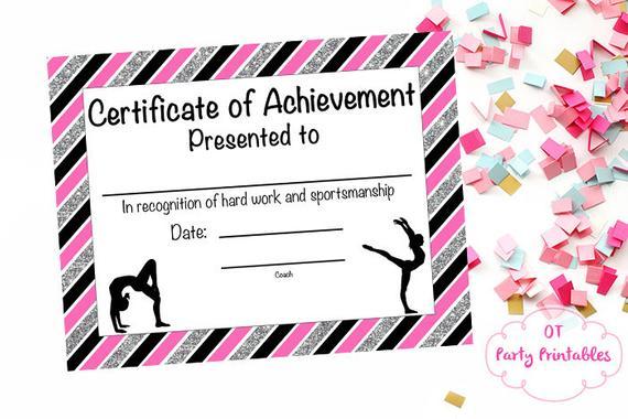 Gymnastics Certificate Template 11