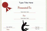 Gymnastics Certificate Template 12