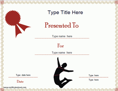 certificate gymnastics template certificates award templates street wordings upon found which author