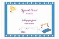 Gymnastics Certificate Template 13