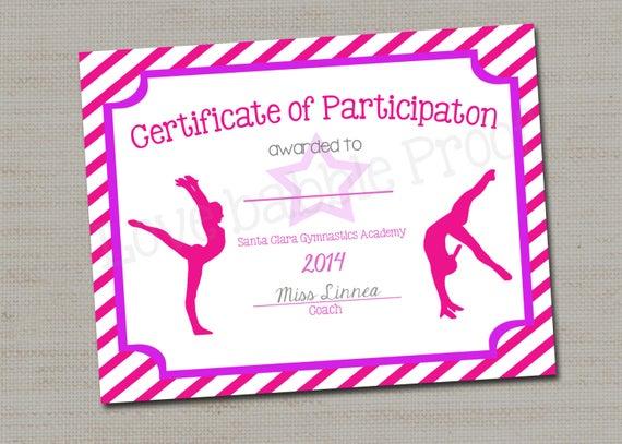 Gymnastics Certificate Template 2
