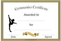 Gymnastics Certificate Template 4
