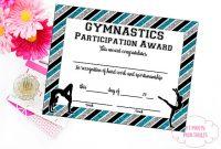 Gymnastics Certificate Template 5